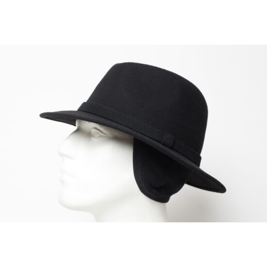férfi gyapjú kalap, gyűrhető, füles