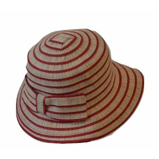 női vászon-szalma kalap