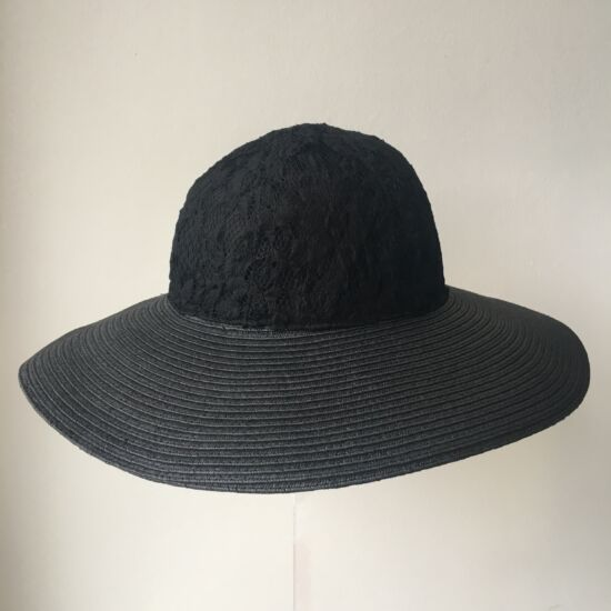 női szalma-csipke kalap, <b>több lehetőség</b>