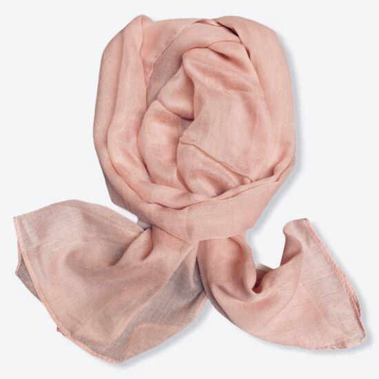 Női viszkóz-pamut sál, üni, fáradt rózsaszín színben