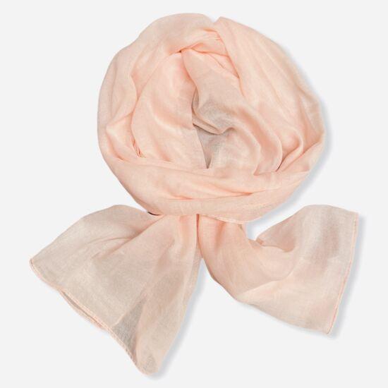 Női viszkóz-pamut sál, üni, rózsaszín színben