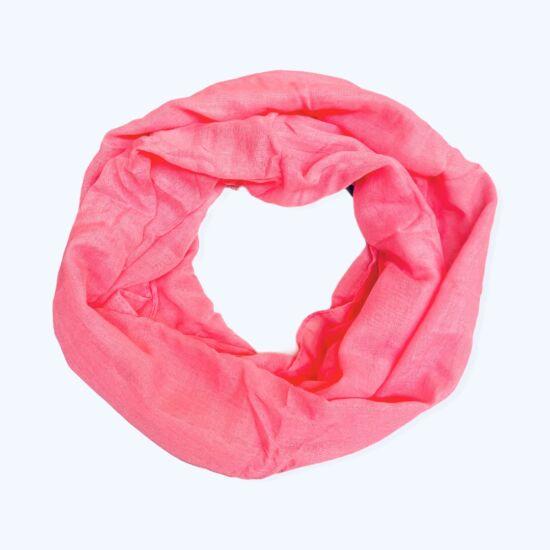 Női viszkóz-pamut loop sál, üni, világos pink színben
