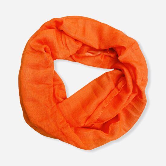 Női viszkóz-pamut loop sál, üni, narancs színben