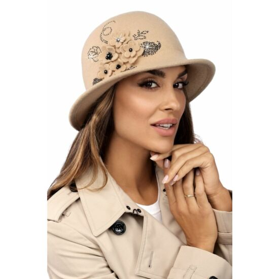 Willi Pilanos női gyapjú kalap, krém