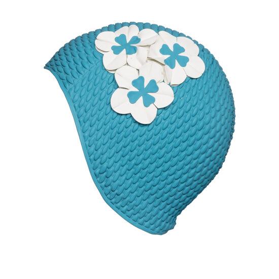 női gumi úszósapka, virággal