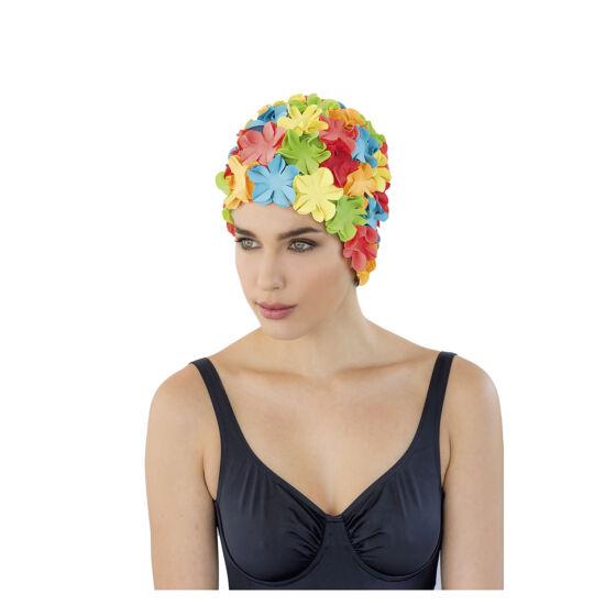 """női gumi úszósapka """"virág"""", <b>több lehetőség</b>"""